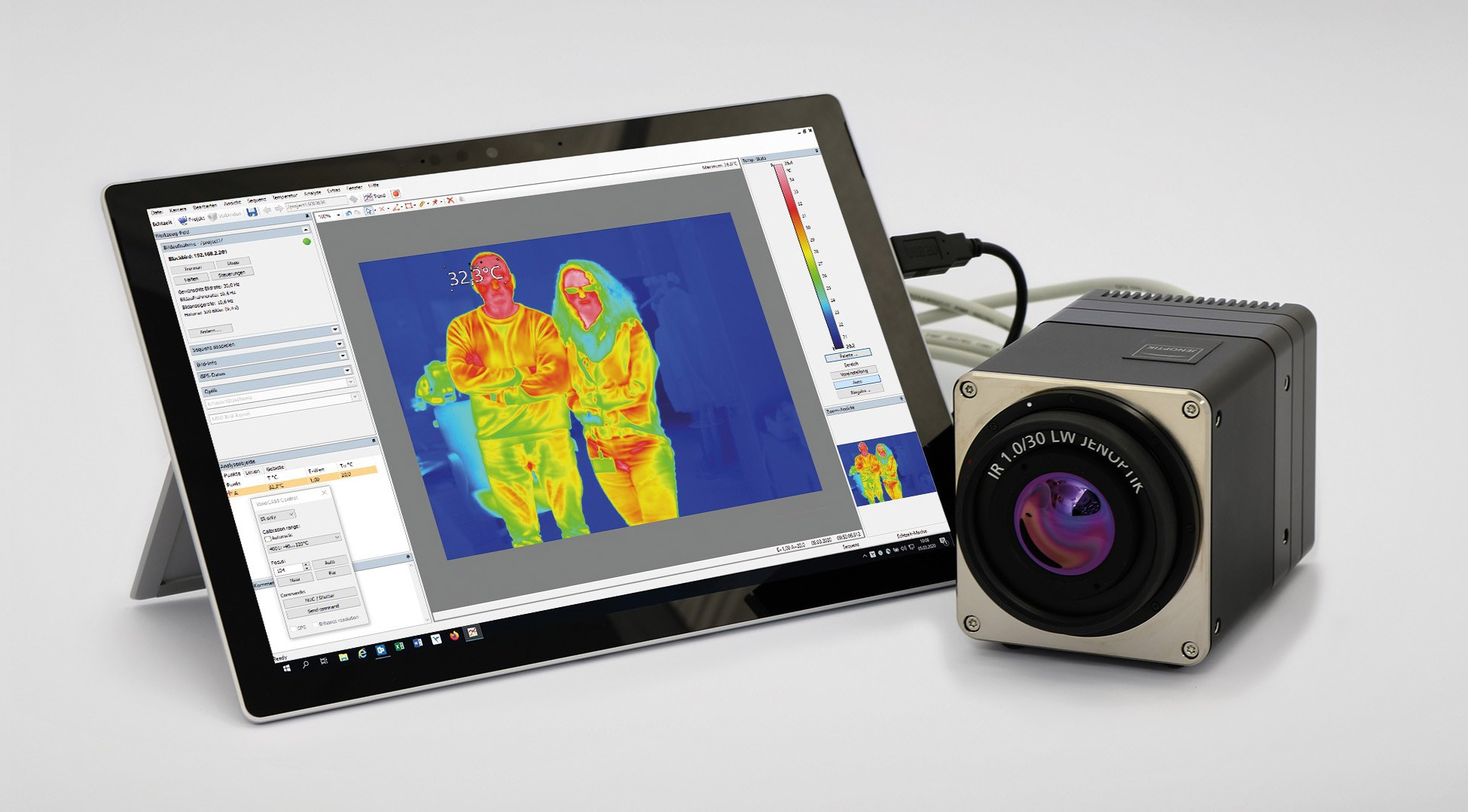 thermal imaging camera and tablet